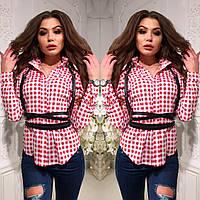 Женская рубашка с портупеей (продается отдельно) ткань паплин