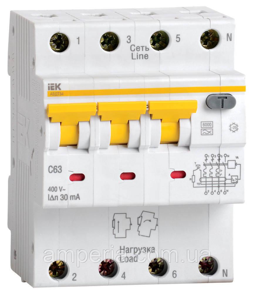 IEK Дифференциальный автомат АВДТ34 C25 300мА (MAD22-6-025-C-300)
