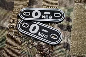 JTG O Neg Blood Type Dog Tags SWAT