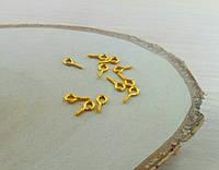 Штифт с резьбой золото микс (10штук)