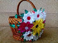 """Праздничная лента на пасхальную корзину """"Цветы"""""""
