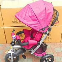 Трёхколёсный велосипед коляска Baby trike СТ22 фиолетовый
