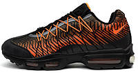 Мужские кроссовки Nike Air Max 95 Orange Black (найк аир макс 95) оранжевые/черные
