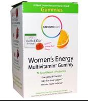 Rainbow Light, Энергетические жевательные мультивитамины для женщин, Восхитительный пикантный вкус апельсина,