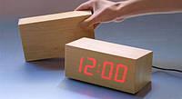 Деревянные часы-будильник с LED-дисплеем Wooden Clock