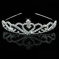 Детская корона, диадема для девочки, высота 3 см.