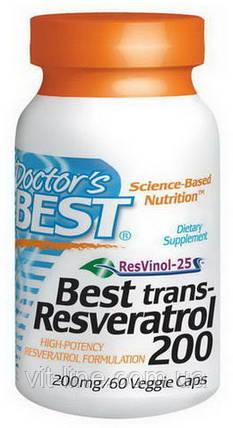 Doctor's Best, Транс-ресвератрол, таблетки 60 овощных капсул, фото 2
