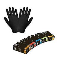 Перчатки Nitrylex PF, нитриловые черные размер XL 100шт.