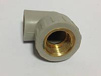 """Кутник 90° Ø25 х 3/4"""" внутр. рiзьба , поліпропілен  VS Plast, фото 1"""