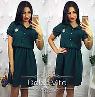 Женское модное платье-рубашка (4 цвета), фото 1