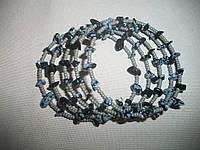 """Браслет ручной работы с натуральным камнем """"Ночь"""", фото 1"""