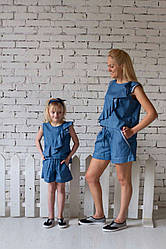 Джинсовый летний костюм для девочки