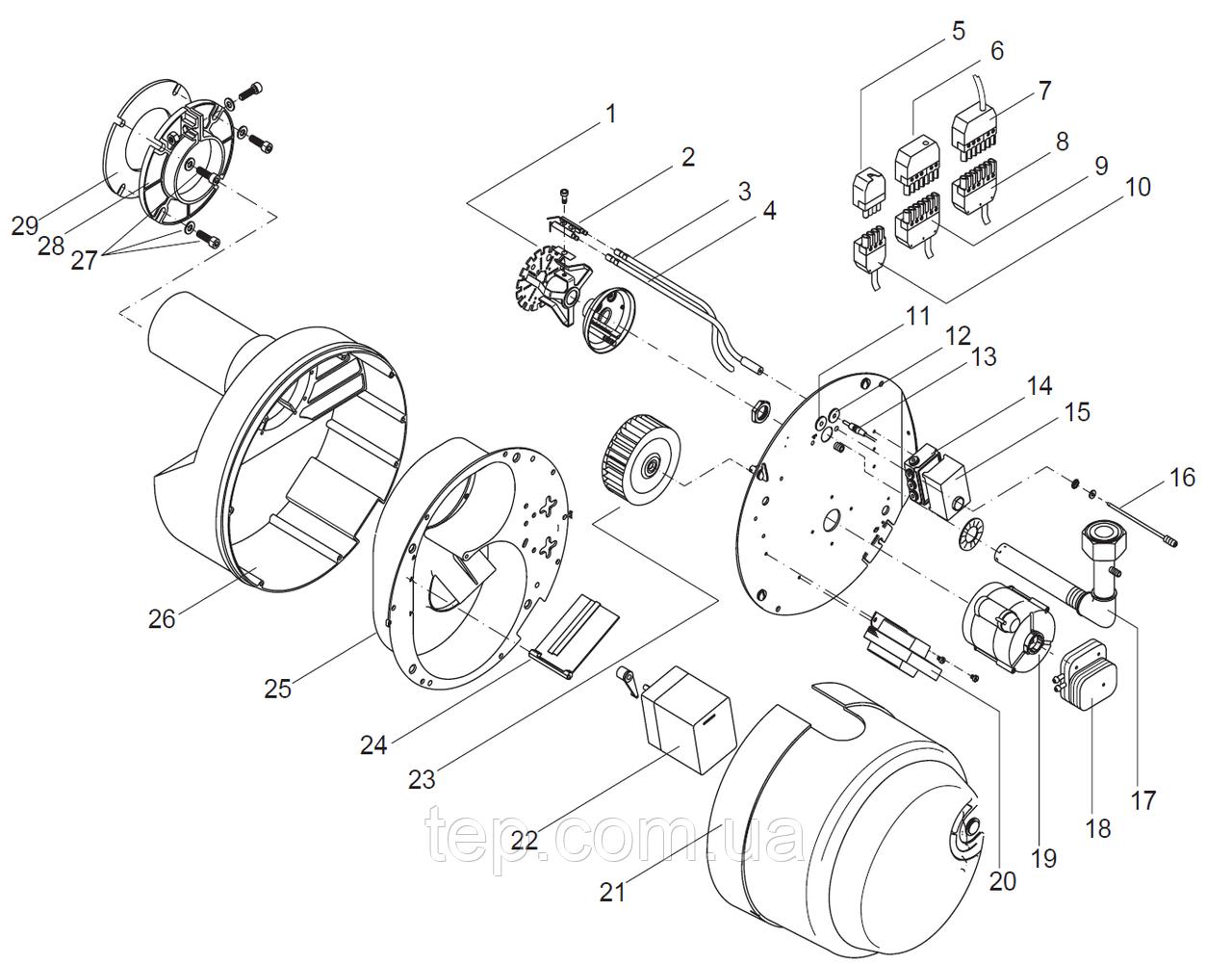 Giersch RG30 Запальний трансформатор c приєднувальним кабелем