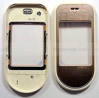 Nokia 7373 Крышка дисплейная розовая, 0256991 оригинал