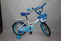 Велосипед детский двухколёсный 16 дюймов Azimut  Haррy Crosser голубой ***