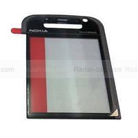 Nokia 5730xm Стекло дисплейное черное с серебром, 9461839 оригинал