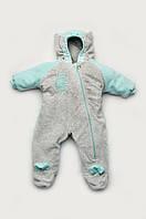 Демисезонный утепленный комбинезон для малышей, велюровый, утепленный человечек