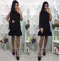 Женское модное платье с рюшами снизу (4 цвета), фото 1