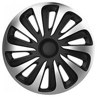 Колпак Колесный Caliber Carbon (серебристо-черный) R15