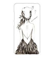 Бампер силиконовый чехол для Xiaomi Redmi 4 Redmi 4 Prime с рисунком Девушка спиной