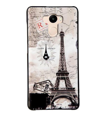 Бампер силиконовый чехол для Xiaomi Redmi 4 Redmi 4 Prime с рисунком Открытка Париж