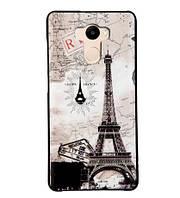 Бампер силиконовый чехол для Xiaomi Redmi 4 Redmi 4 Prime с рисунком Открытка Париж, фото 1