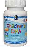 Nordic Naturals, ДГК для детей, 250 мг, 180 капсул, со вкусом клубники,