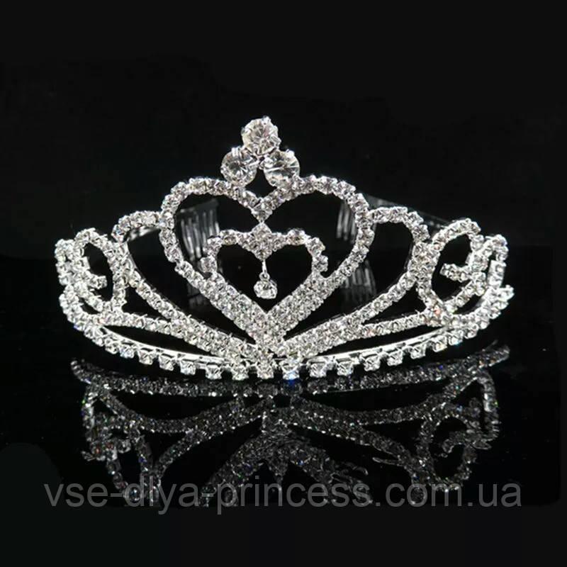 Детская корона, диадема для девочки, высота 5 см.