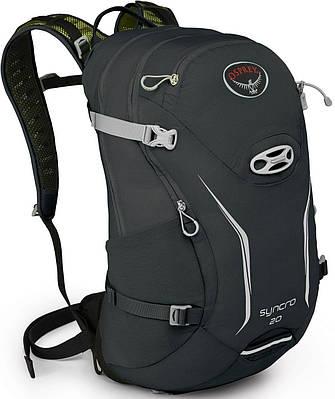 Качественный вместительный вело-рюкзак на 20 л. Osprey Syncro 20 S/M серый