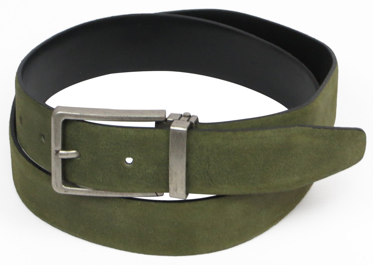Мужской классический ремень, Vanzetti, Германия, 100112 зеленый, 3х117 см