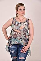 Зеленая блузка 0281-3
