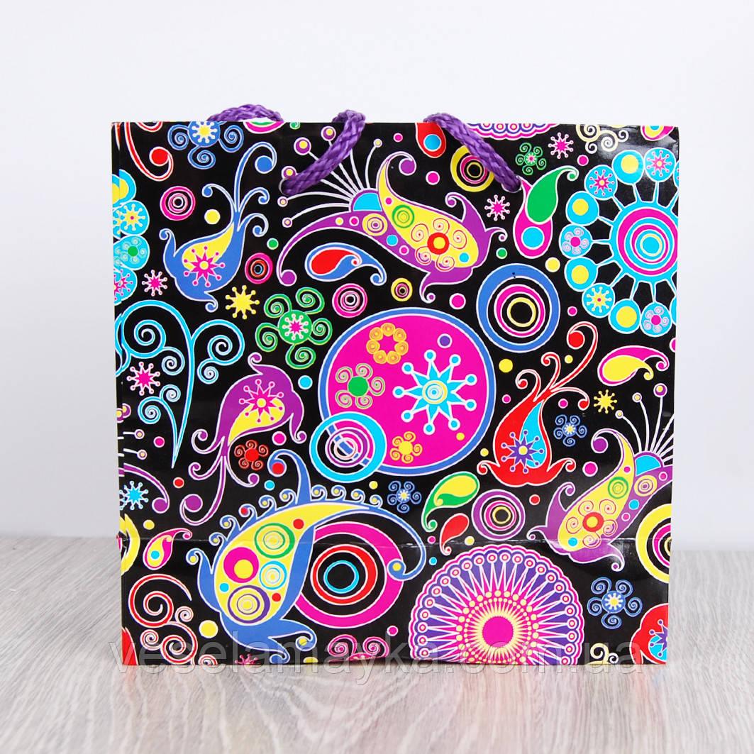 Подарочный пакет для чашки (Яркий рисунок)