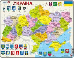 Пазл рамка-вкладыш Карта Украины - политическая Lasren серия Макси (K57)