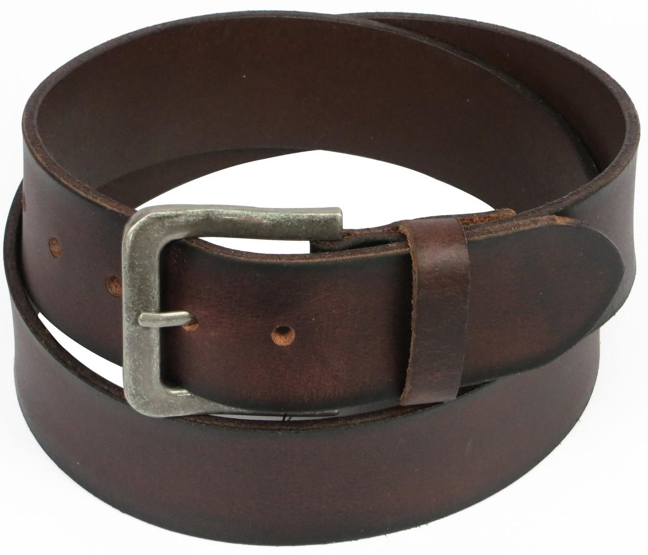 Качественный мужской кожаный ремень под джинсы, Vanzetti, Германия, 100004 коричневый, 4,5х119 см