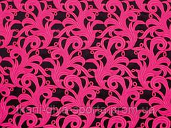 Кружевной мотив ярко-розовый fluo CHRISANNE (Англия) (Tamara lace pink fizz)