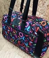 Женская сумка Сумка спортивно-дорожная цветочный принт