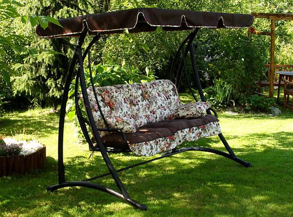 Подушки,матрасы для садовых качель 175 см + крыша, фото 2
