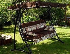 Подушки,матрасы для садовых качель 175 см + крыша, фото 3