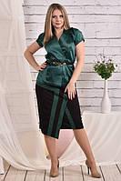 Зеленая блузка 0456-3 (юбка 0458-3 отдельно)