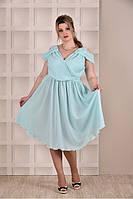 Мятное платье 0263-3