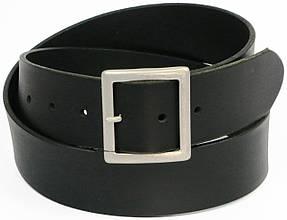 Гладкий мужской кожаный ремень под джинсы, Vanzetti, Германия, 100082 черный, 4,5х118 см
