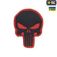 M-Tac нашивка Punisher ПВХ красно-черная, фото 1