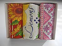 Набор из 3 больших вафельных полотенец