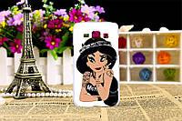 Чехол силиконовый бампер для Samsung Galaxy J1 J00 с рисунком принцесса Жасмин