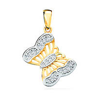 Золотой кулон Бабочка