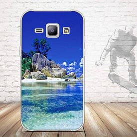 Чехол для Samsung Galaxy J1 J00 с картинкой остров
