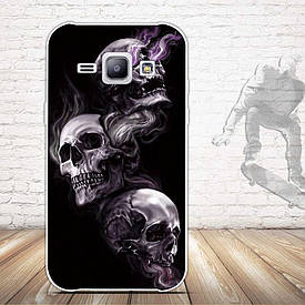 Чехол для Samsung Galaxy J1 J00 с картинкой три черепа