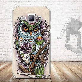 Чехол для Samsung Galaxy J1 J00 с картинкой сова