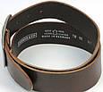 Широкий ремень под джинсы из кожи, Cramer & Co, Германия, 100121 темно коричневый, 5х109 см, фото 5