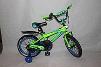 Велосипед детский двухколёсный 14 дюймов Azimut STONE CROSSER-5 салатовый ***
